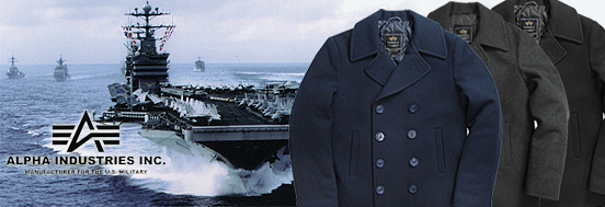 МОРСЬКІ БУШЛАТИ ALPHA INDUSTRIES US NAVY PEA COAT