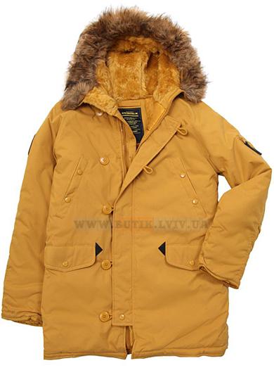 Жовта куртка аляска Altitude Parka Alpha Industries