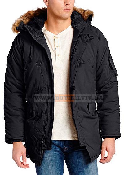 Чорна куртка аляска Altitude Parka Alpha Industries