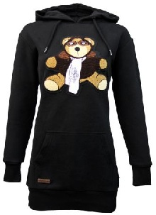 Реглан Top Gun Women's Long Teddy Hoodie (чорний)