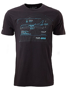 Футболка Boeing 737-800 Schematics T-Shirt