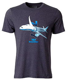 Футболка Boeing 787 Dreamliner X-Ray Graphic T-Shirt 1100100109740001