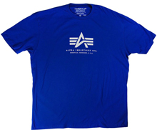 Футболка Alpha Logo Tee Alpha Industries (синя)