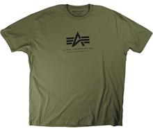 Футболка Alpha Logo Tee Alpha Industries (Military Green)