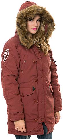 Зимова жіноча куртка аляска Alpha Industries Altitude W Parka (Red Ochre) WJA44503C1