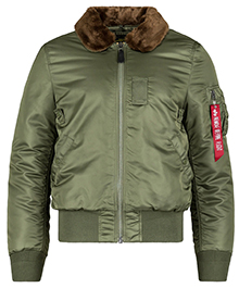 Куртка Alpha Industries B-15 Slim Fit Bomber Jacket (Sage Green) MJB45500C1