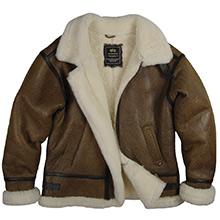 Шкіряна льотна куртка Alpha Industries B-3 Sherpa (Brown) MLB21002A1