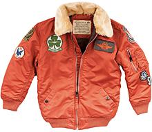 Boys Maverick Jacket Alpha Industries (Rust)