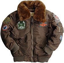Дитяча куртка Boys Maverick Jacket Alpha Industries (Cocoa)