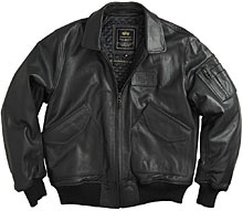 Шкіряна льотна куртка Leather CWU 45/P Flight Jacket (чорна)
