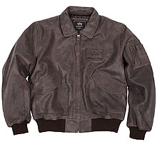 Шкіряна льотна куртка Alpha Industries CWU 45/P Leather Jacket (Brown) MLC21001A1