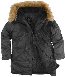 Зимова жіноча куртка Аляска Darla Alpha Industries (чорна)