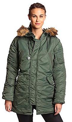 Зимова жіноча куртка аляска Darla Alpha Industries (оливкова)