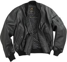 Шкіряна льотна куртка Alpha Industries MA-1 Leather Jacket (Black) MLM21000A1