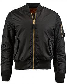 Куртка бомбер Alpha Industries MA-1 Slim Fit (чорний)