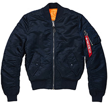 Куртка бомбер Alpha Industries MA-1 Slim Fit (синій)