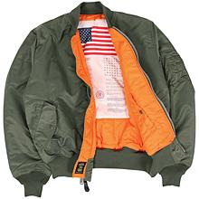 Льотна куртка Alpha Industries MA-1 Blood Chit (Sage green) MJM21300C1