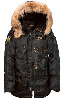 Куртка аляска Alpha Industries N-3B 55th Anniversary Parka (Black) MJN44501C1