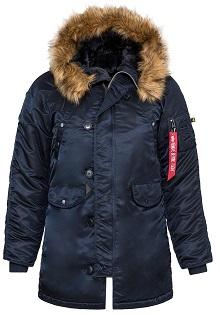 Зимова жіноча куртка аляска Alpha Industries N-3B W Parka (Rep.Blue) WJN44502C1