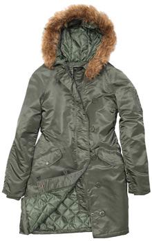 Осіння жіноча куртка Natasha Alpha Industries (оливкова)