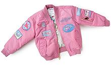 Дитяча льотна куртка Boeing Pink Nylon Flight Jacket (Pink) 332032070006
