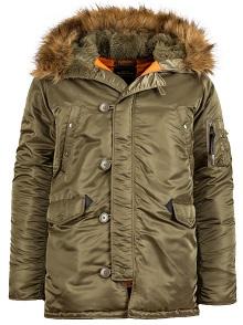 Куртка аляска Alpha Industries Slim Fit N-3B Parka оливкова (vintage olive) MJN31210C1