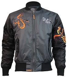 Куртка Top Gun The Flying Legend Bomber Jacket (Charcoal) TGJ1634