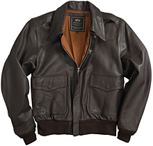 Шкіряна льотна куртка A-2 Goatskin Leather Jacket (коричнева)