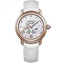 Швейцарський жіночий годинник Aerowatch 1942 Butterfly (білий) 44960RO05