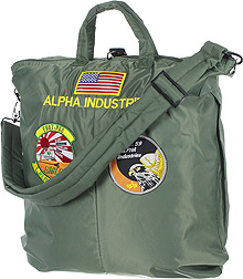 Сумка Alpha Industries Helmet Bag With Patches (оливкова)
