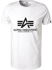 Футболка Alpha Industries Basic T-Shirt (white) 100501/09
