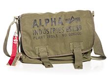 Сумка Alpha Industries Cargo Canvas Courier Bag (оливкова)