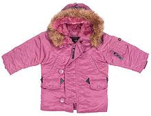 Зимова куртка для дівчинки Youth N-3B Parka (Tulip)