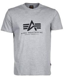 Футболка Alpha Logo Tee Alpha Industries (сіра)
