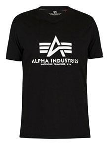 Футболка Alpha Industries Basic T-Shirt (black) 100501/03