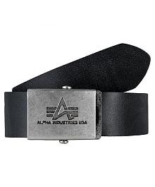 Шкіряний ремінь Alpha Industries Inc. Leather Belt (чорний) 153906