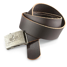 Шкіряний ремінь Alpha Industries Inc. Leather Belt (коричневий) 153906
