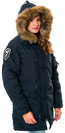 Зимова жіноча куртка аляска Alpha Industries Altitude W Parka (Rep.Blue) WJA44503C1