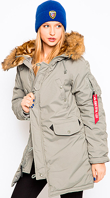 Зимова жіноча куртка аляска Altitude W Parka Alpha Industries (Alaska Green) WJA44503C1