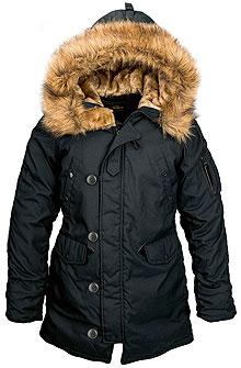 Зимова жіноча куртка аляска Alpha Industries Altitude W Parka (Black) WJA44503C1
