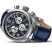 Авіаційний чоловічий годинник Aviator Airacobra P45 Chrono (Blue) V.2.25.0.170.4