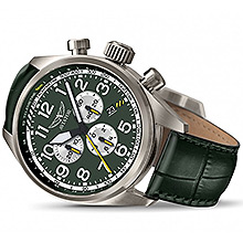 Годинник наручний авіаційний Aviator Airacobra P45 Chrono (Green) V.2.25.7.171.4