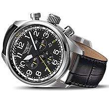 Льотний годинник Aviator Airacobra P45 Chrono (Black) V.2.25.0.169.4