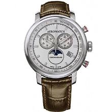 Авіаційний годинник Aerowatch Renaissance Chronograph Moon-Phases 84936AA04SAT