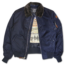 Бомбер Top Gun B-15 Men's Heavy Duty Vintage Flight Bomber Jacket (синій)