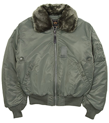 Куртка бомбер Alpha Industries B-15 Bomber Jacket (Sage green) MJB23010C1