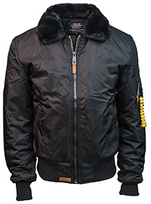 Бомбер Топ Ган Top Gun B-15 Men's Heavy Duty Vintage Flight Bomber Jacket чорний (black) TGJ1542