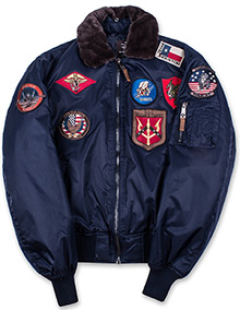 Бомбер Top Gun Official B-15 Flight Bomber Jacket with Patches (navy) TGJ1542P