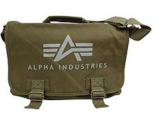 Сумка Alpha Industries Big A Canvas Courier Bag (оливкова)