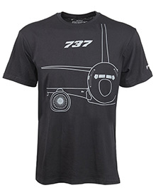 Футболка Boeing 737 Midnight Silver T-Shirt